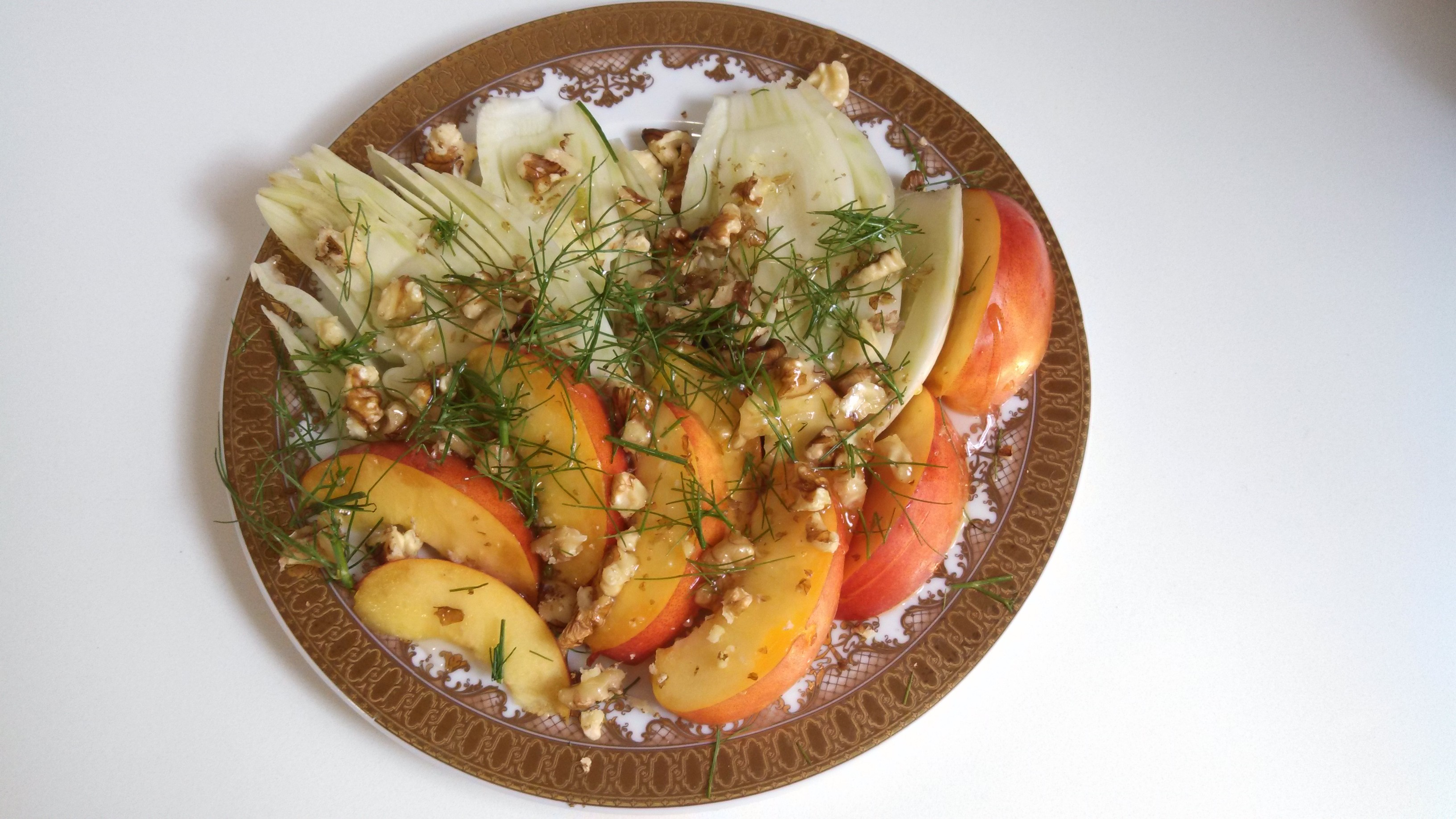 Raw Fennel, Nectarine, and Walnut Salad Photo by Veronica Hackethal