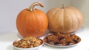 Roasted Pumpkin Seeds and Sugar-Free Candied Pumpkin Photo by Veronica Hackethal