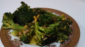 Brocolli with Orange Zest, Garlic, and Anchovies Photo by Veronica Hackethal