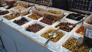 Olive Bar at Mediterranean Foods, Inc. Photo by Veronica Hackethal